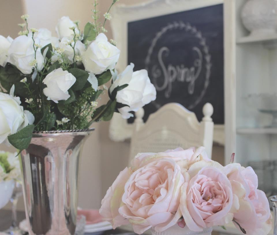 mothers day tablescape brunch fresh faux flowers floral arrangements