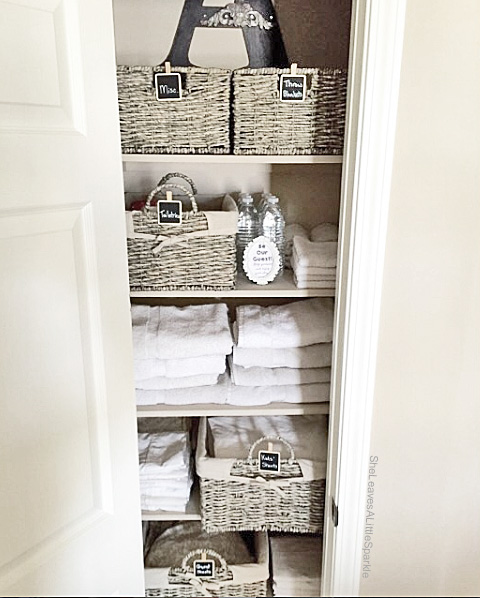 advice for your daughter be organized LinenCloset