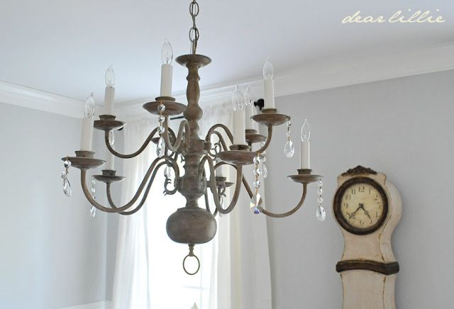 Fabulous chandelier makeover summer adams dear lillie chandelier makeover chalk paint diy aloadofball Image collections