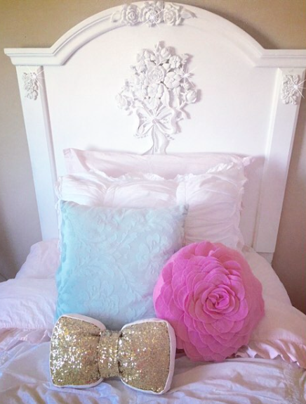 girls twin bed shabby chic vintage tween girls bedroom makeover
