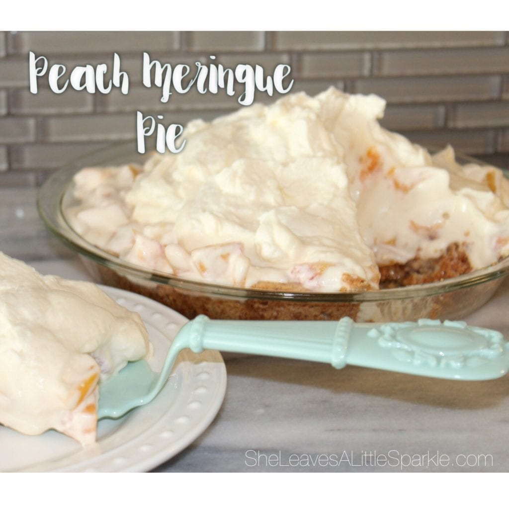peach meringue pie recipe fathers day she leaves a little sparkle