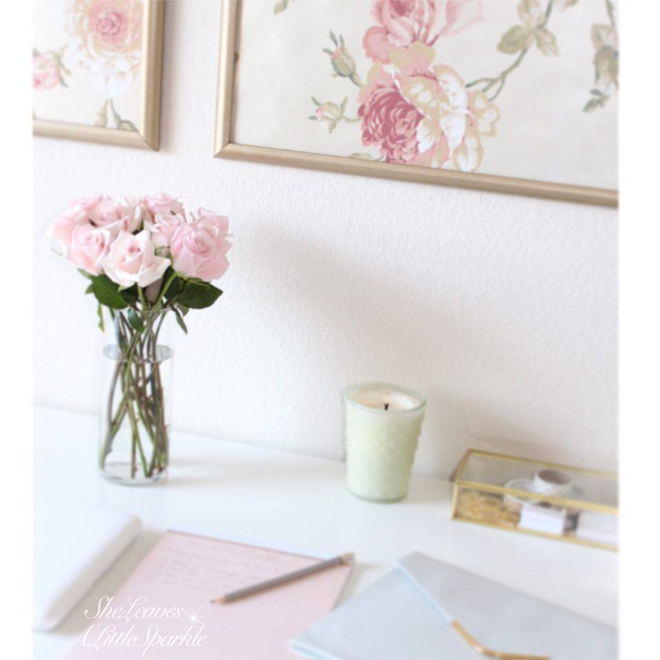 advice for my daughter wallpaper panels blush gold office wall art floral