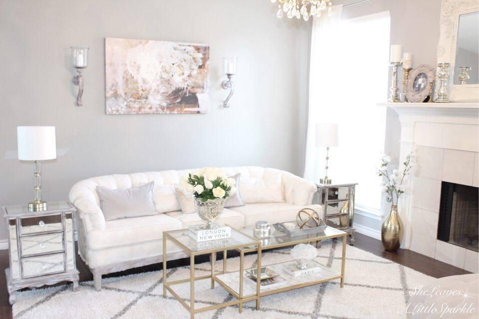 Living Room Tour Part 1 Oliver Gal Canvas Art Serving Roses Tufted Sofa Ikea Hack Vittsj