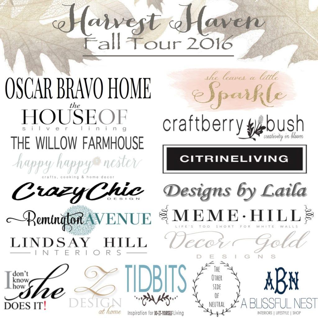 harvest haven fall tour 2016 home decor fall blog hop