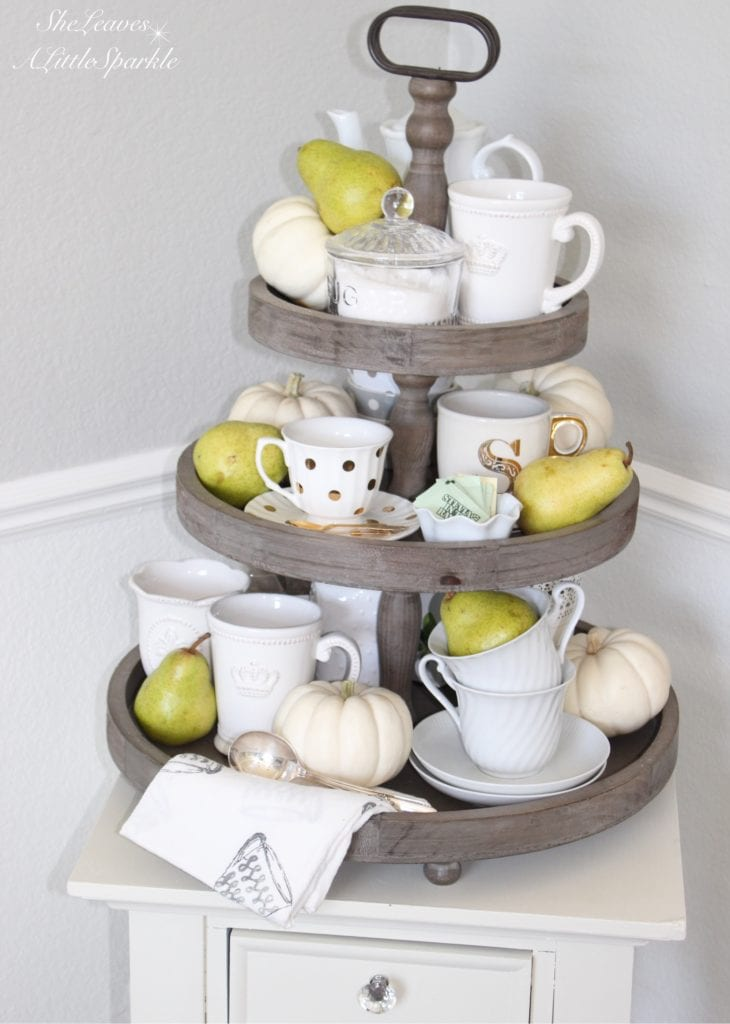 harvest have fall tour 2016 home decor fall blog hop tea station painted fox dear lillie 3 tiered stand