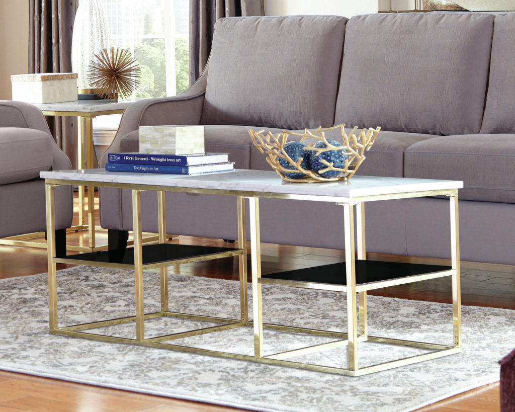 Marble And Gold Coffee Table CoffeTable
