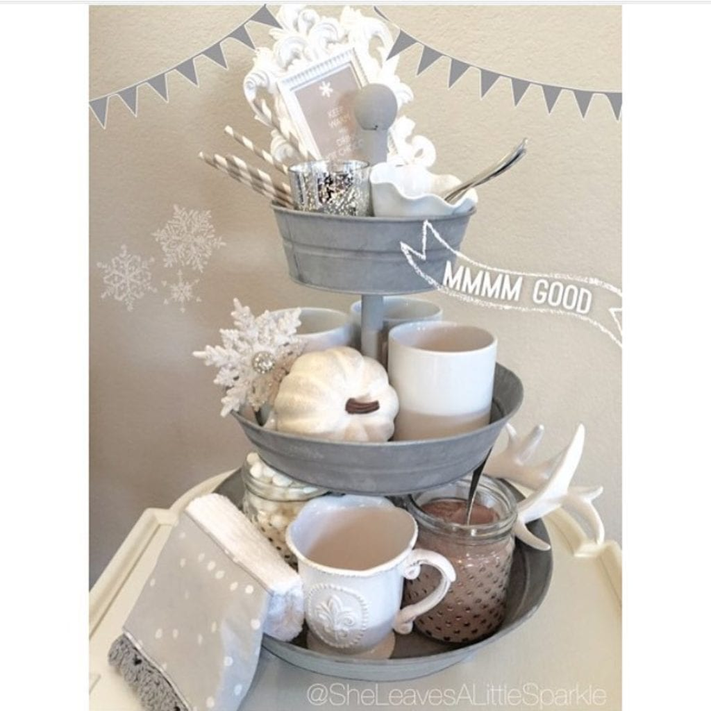advice for my daughter hot cocoa chocolate bar 3 tiered tray