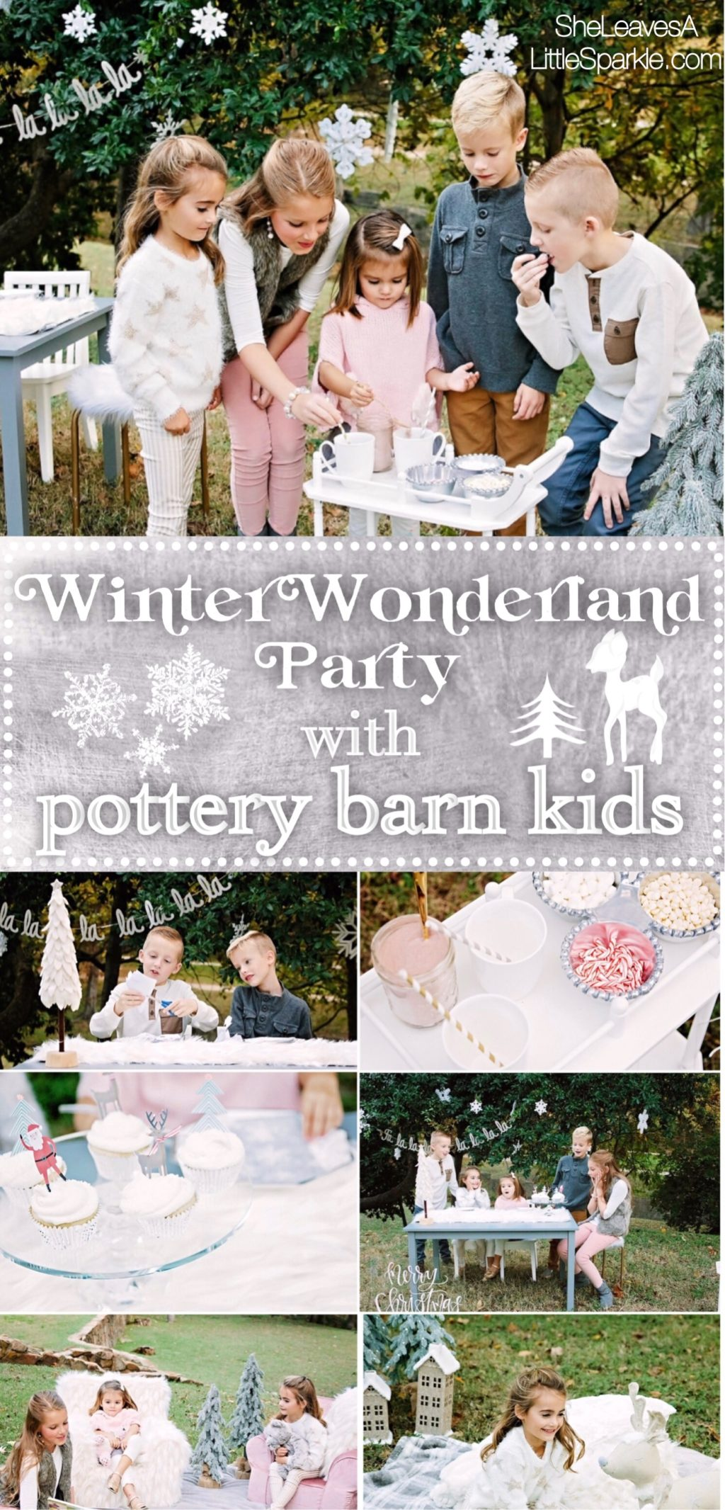 winter wonderland party with pottery barn kids summer adams