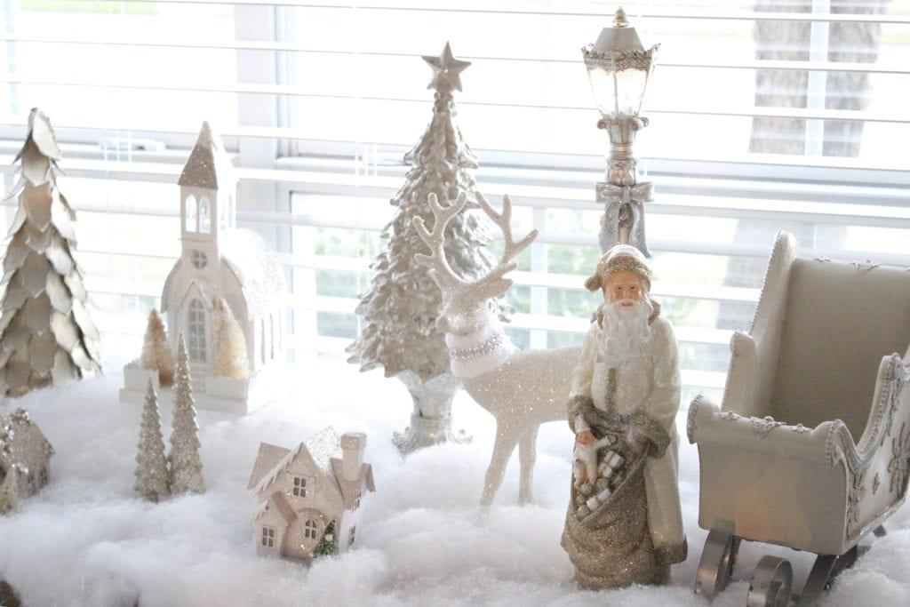 adding glam to christmas decor winter wonderland