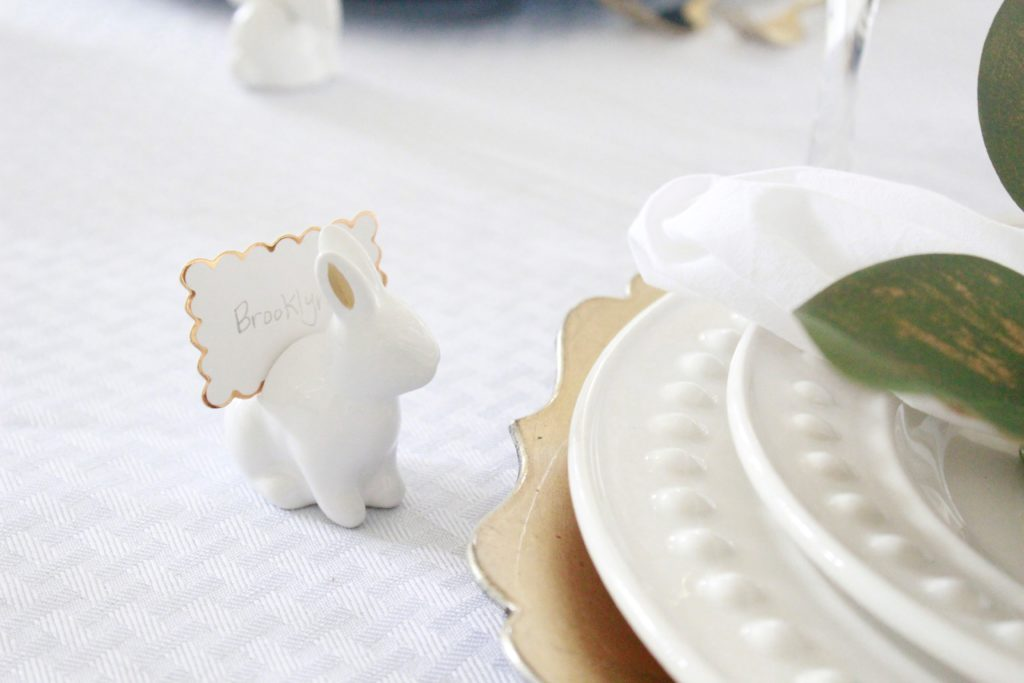 I Used These Adorable Bunny Place Card Holders That I Shared Last Week In  My Kids Easter Table