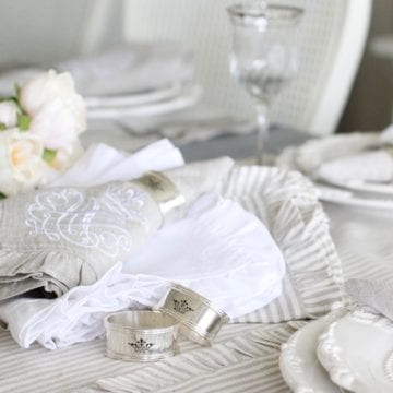 Luxurious French Ruffle Table Linens