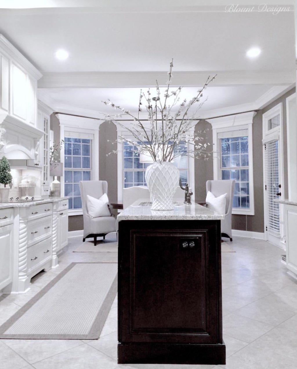 Bright White Home of Deborah Blount bright white kitchen