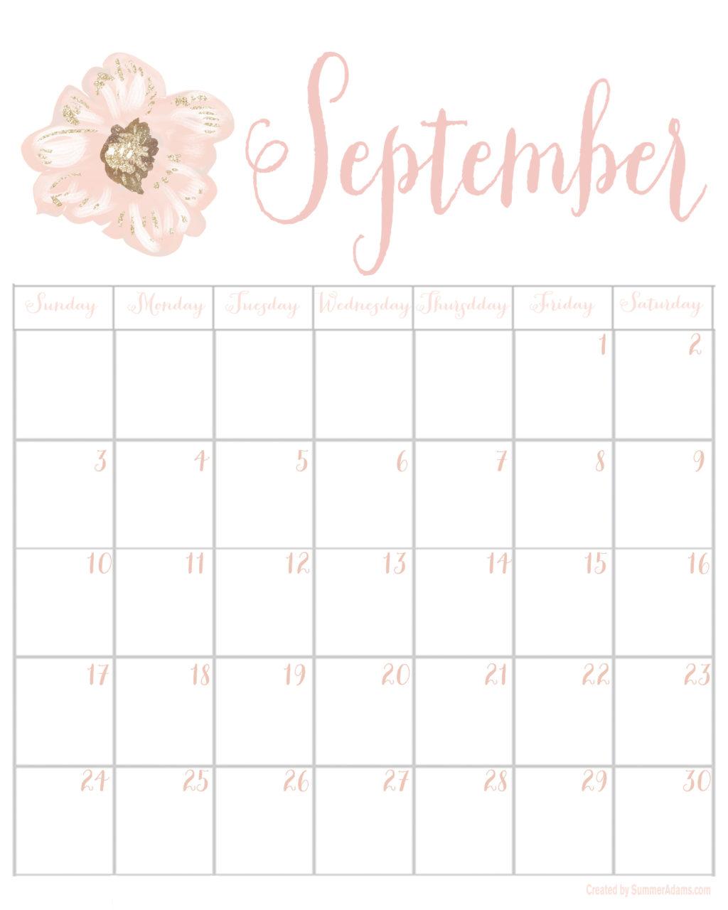 October 2017 Calendar Pinterest