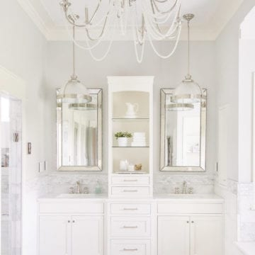 Bright White Home of Our Modern Antebellum