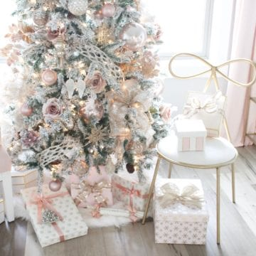 My Blush Pink Flocked Christmas Tree