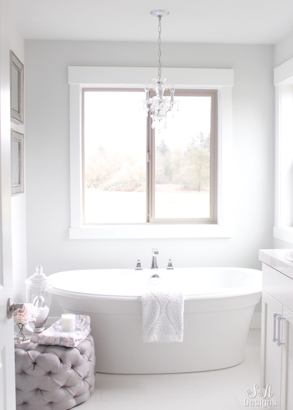 Tranquil Glam Master Bathroom Tour - Summer Adams