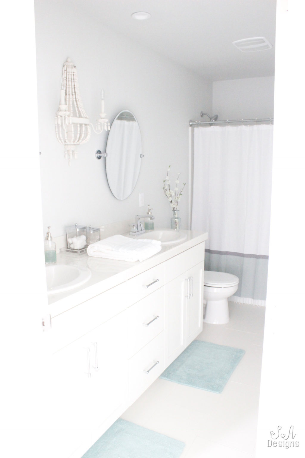 Coastal Chic Kids Bathroom Reveal - Summer Adams