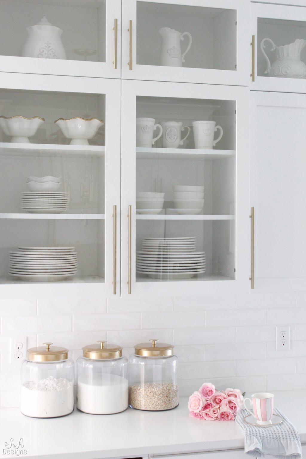 DIY Gold & Glass Canisters For The Kitchen - Summer Adams