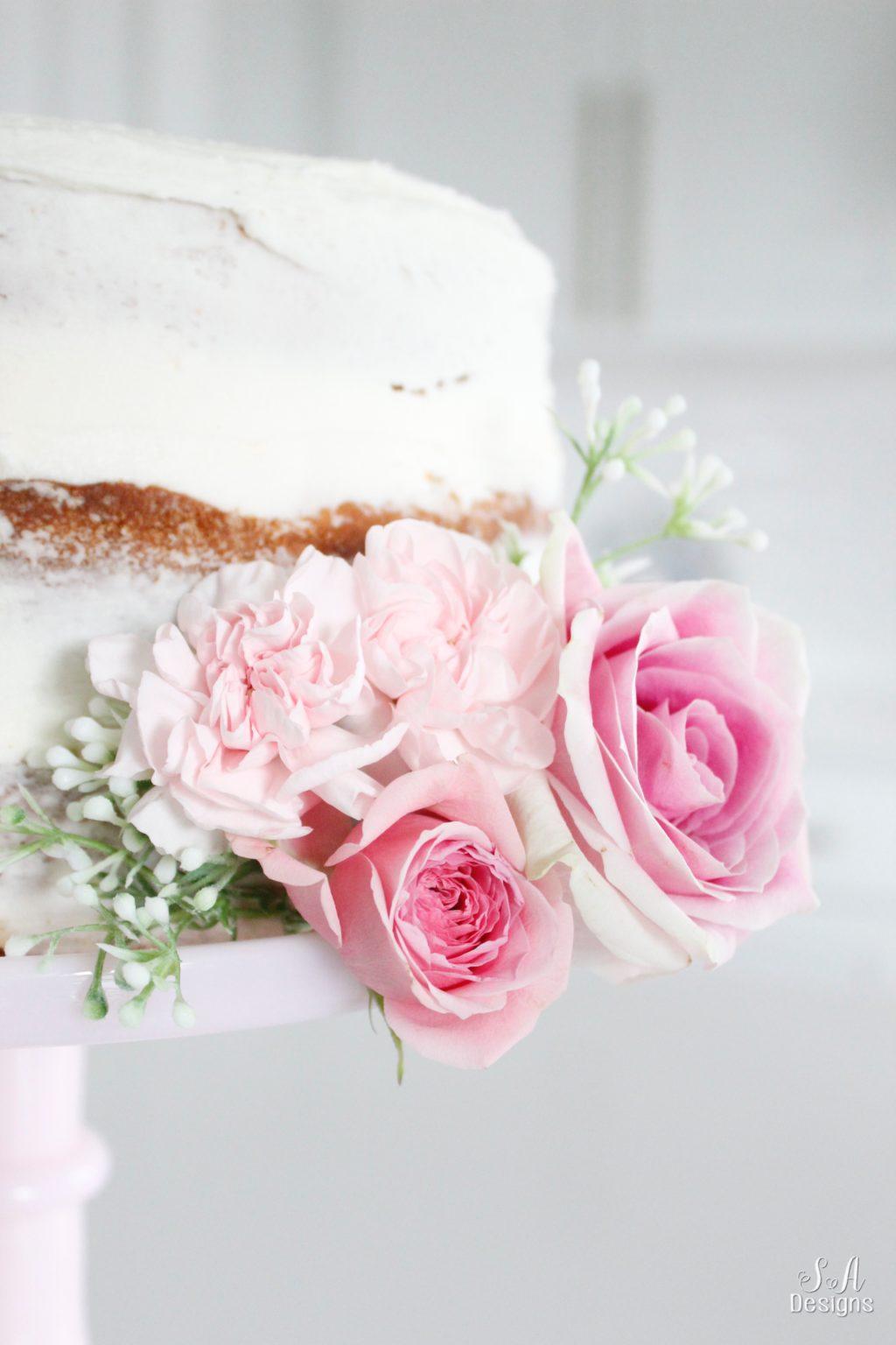 Pink Lemonade Chiffon Naked Cake - Summer Adams