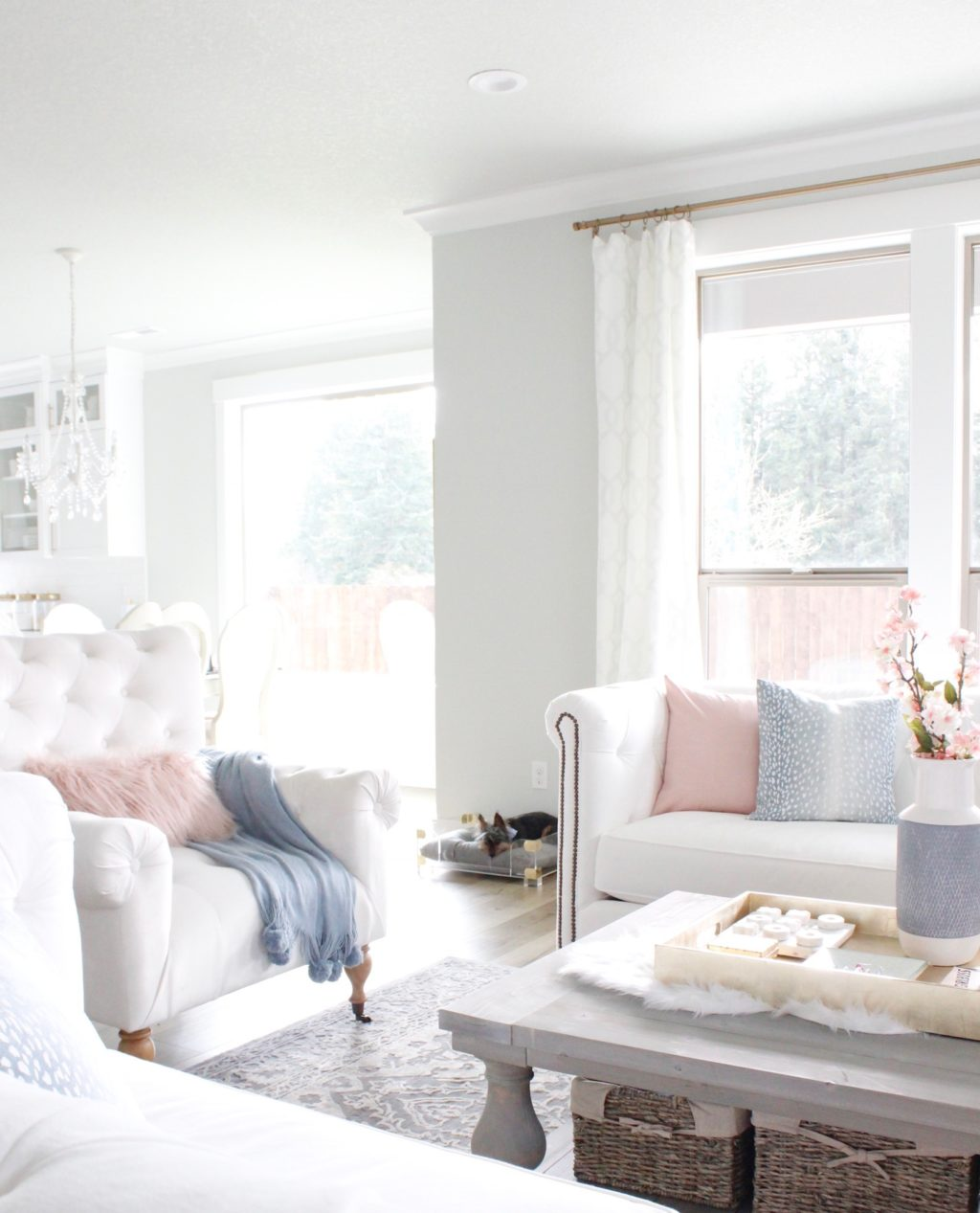 Spring Home Tour With Accents Of Blush & Blue - Summer Adams