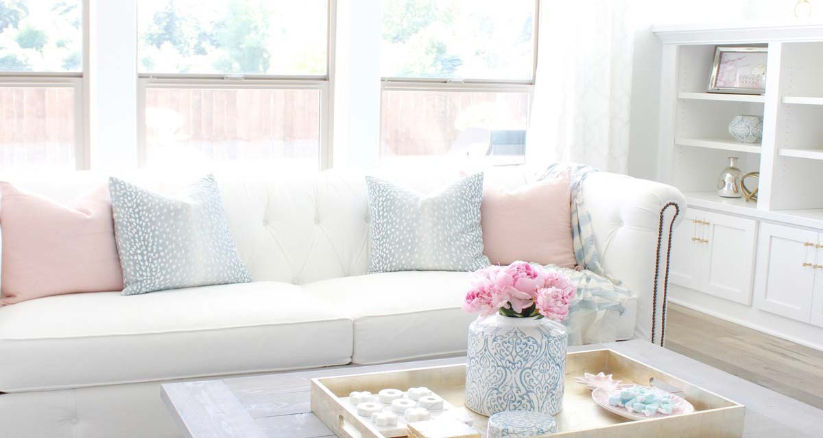 SLIDER Summer Adams Pink Peonies Summer Living Room