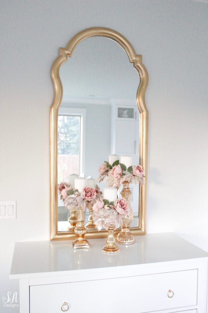 glam blush pink fall candle wreaths candle rings mercury glass candle holders