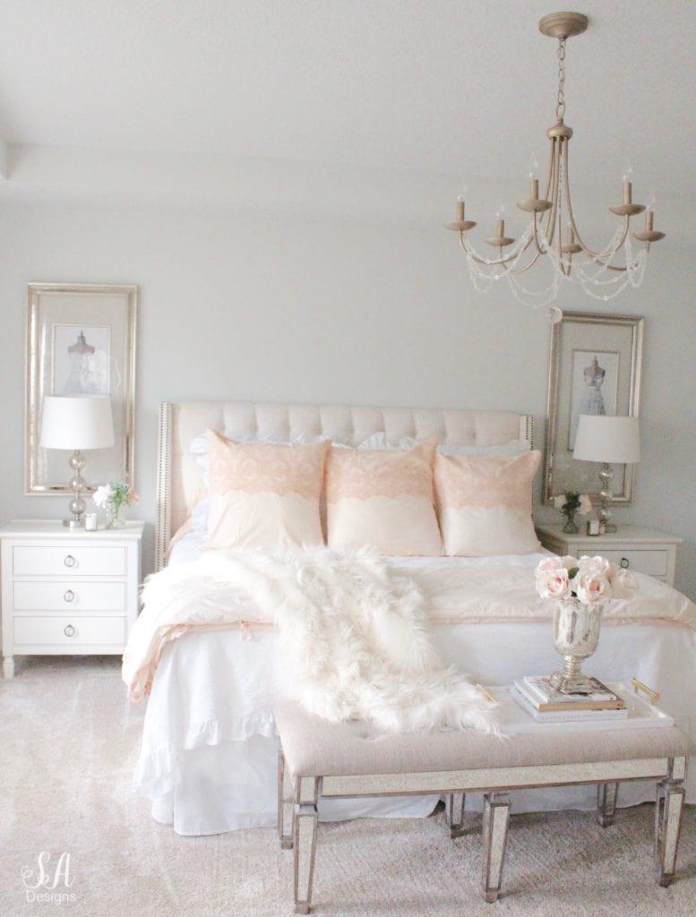 pom pom at home grace duvet set collection pink champagne, romantic homes bedroom, white blush pink romantic glam master bedroom, fall master bedroom decor